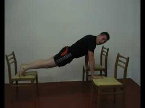 3 chair push up bodyweight exercise youtube