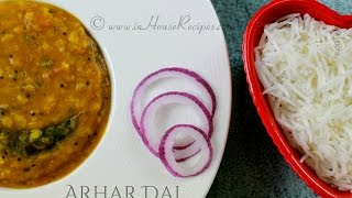 Arhar dal Toor Dal South Indian style Recipe