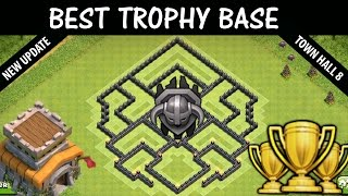 Clash of Clans -  TH8 MASTER LEAGUE Trophy Base (Town Hall 8 Trophy Base) CoC Best Trophy Base