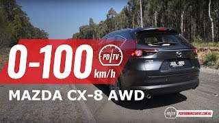 2018 Mazda CX-8 0-100km/h & engine sound