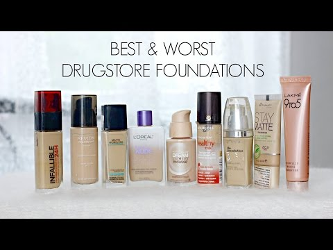 Best & Worst Drugstore Foundations | TiTi's Corner