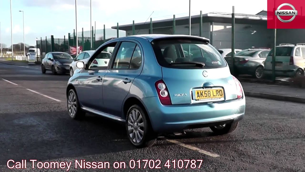 2008 nissan micra tekna pacific blue ak58lro for sale at toomey nissan southend youtube. Black Bedroom Furniture Sets. Home Design Ideas