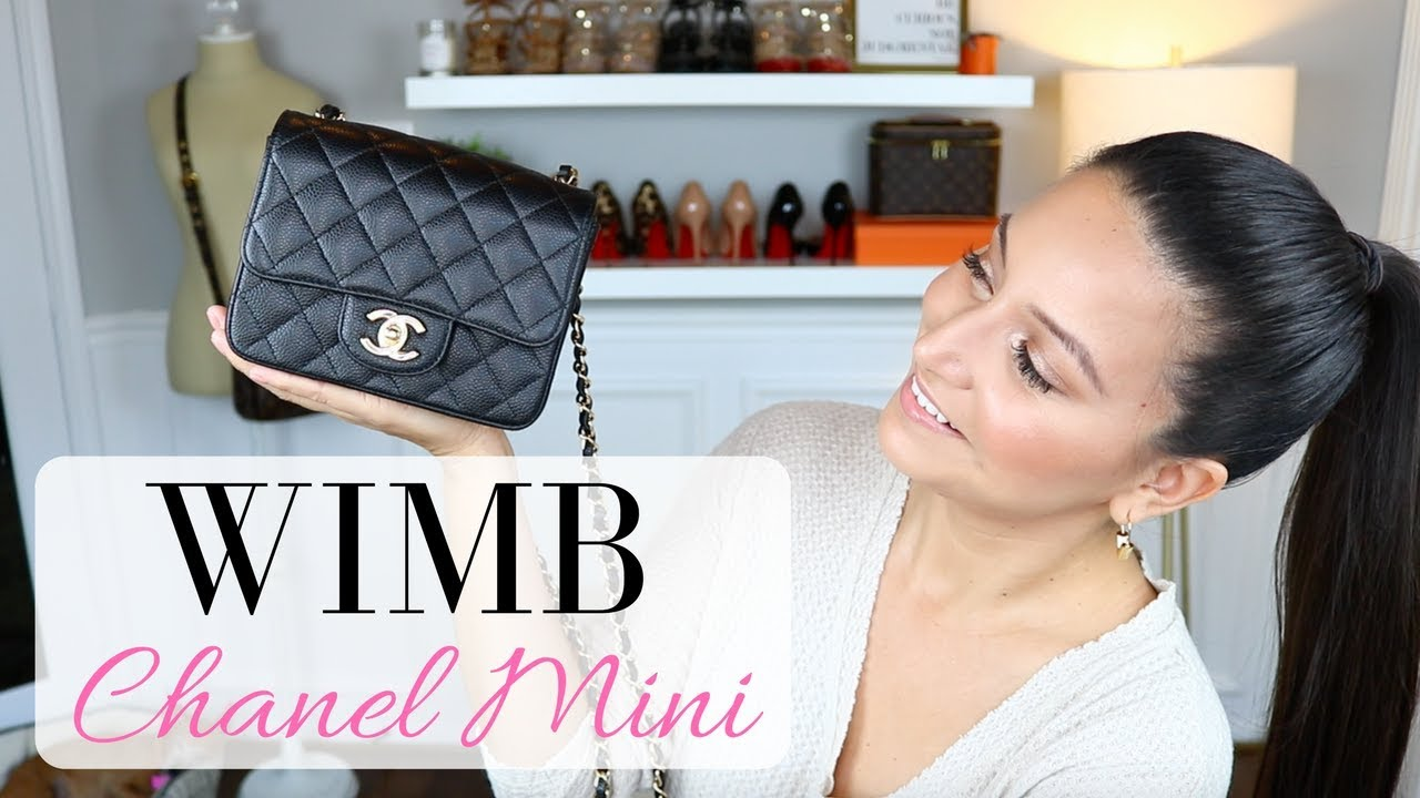 6df45831d7ef WHAT'S IN MY BAG - Chanel Mini Square | LuxMommy - YouTube