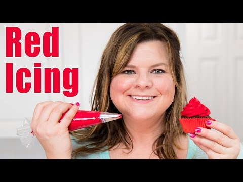 How to Make Red Icing / Red Buttercream Recipe for Cake Decorating: Tutorial from Jenn Johns