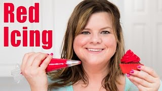 How to Make Red Icing  Red Buttercream Recipe for Cake Decorating: Tutorial from Jenn Johns
