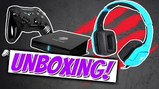 EPIC MOBILE GAMING GEAR!   M.O.J.O Console + Tritton KUNAI Unboxing / Review