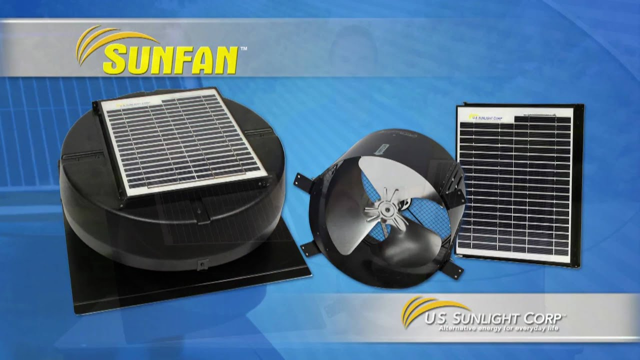 Solar Ed Attic Fans Roof Mounted And Gable