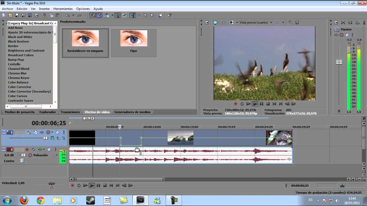 Sony Vegas Pro 10: Línea de envolvente o sensibilidad. - YouTube