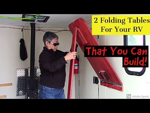 2 Folding Tables For Your RV That You Can Build!