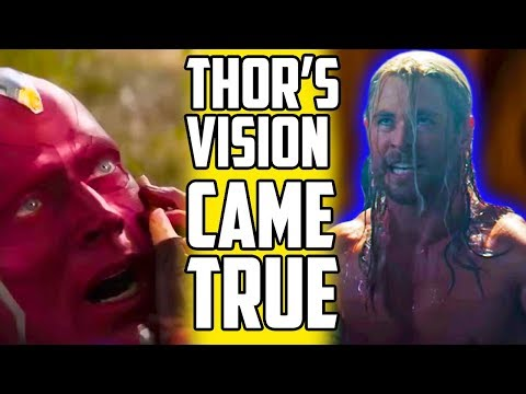 How Thor's Vision Predicted Infinity War's Ending