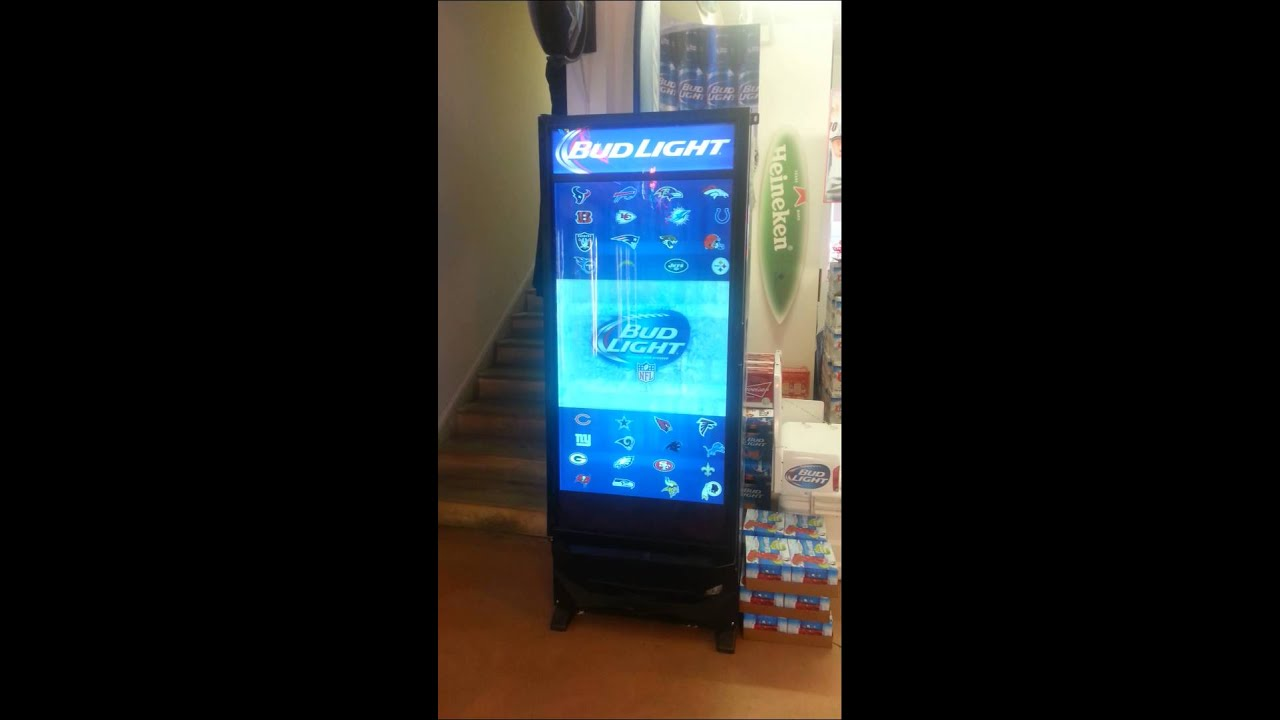 Bud Light Beer Cooler With Video Screen Door Youtube
