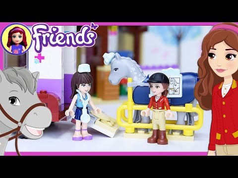 Lego Friends Horse Vet Trailer Build Review Silly Play - Kids Toys