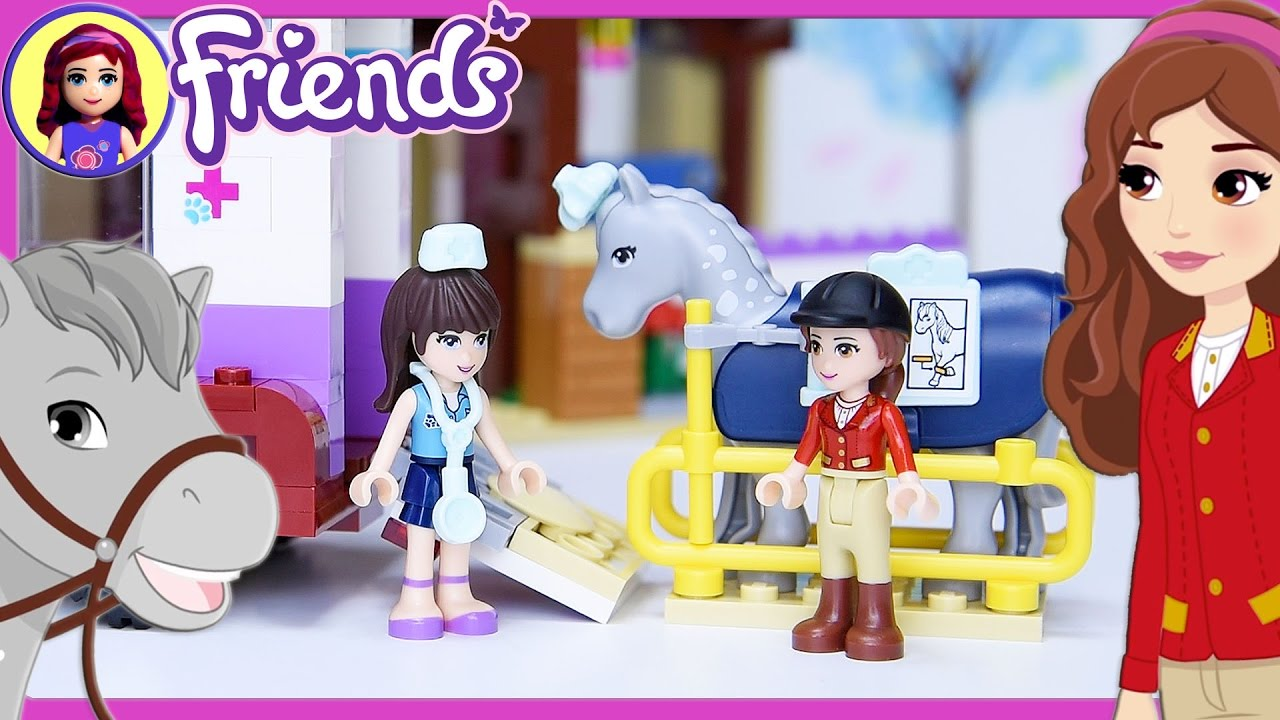 Lego Friends Horse Vet Trailer Build Review Silly Play Kids Toys