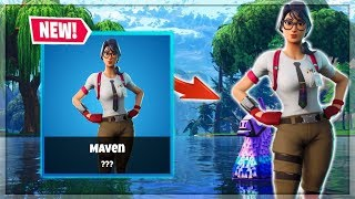 New Leaked Maven Skin | Come Stream Snipe Me! | Fortnite Live PS4