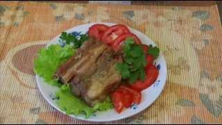Домашние видео рецепты - свиные ребрышки в мультиварке