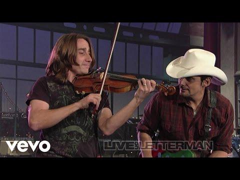 Brad Paisley  Time Warp Live on Letterman