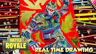 How To Draw Fortnite Battle Royale Wukong - Step By Step Tutorial Legendary Skin / Dibujos フォートナイト