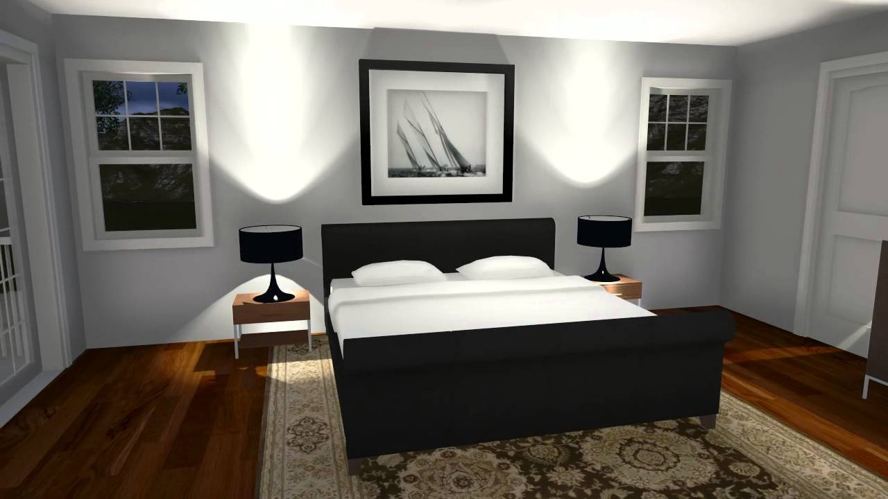 Lumion sample rendering of a bedroom youtube for Model bedroom interior design
