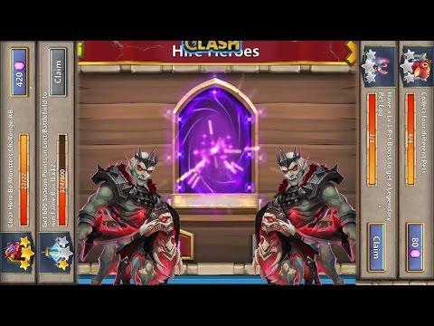 Castle Clash Claiming New Rewards + Gem Rolling For Revenant