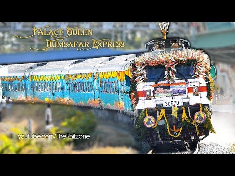 Palace Queen Humsafar Express PQHS | Inaugural Run | Mysore - Udaipur City | Indian Railways