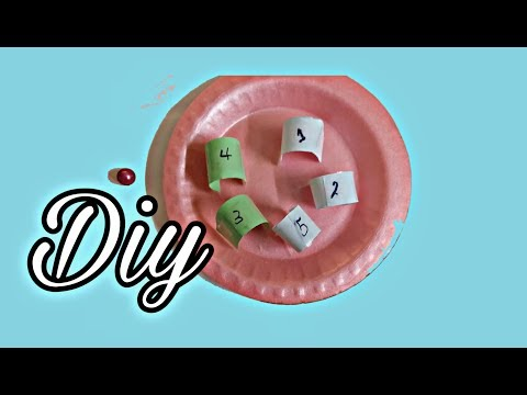how to make simple games with paper and plates