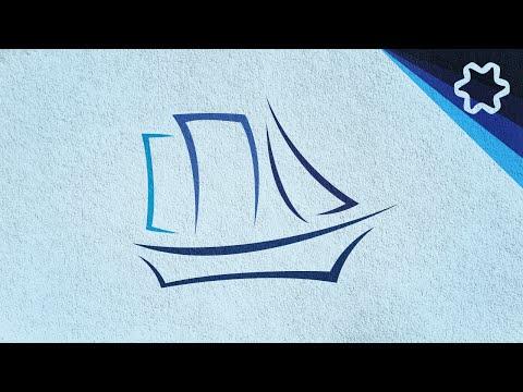 ships boats water logo design tutorial / Adobe illustrator Tutorial for beginners