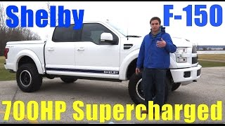 2016 Shelby 700hp Ford F-150!! Test Drive, Walkaround, Detailed Description, Supercharger Sound!
