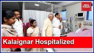 Karunanidhi Remains In ICU, Politicians Visit DMK Chief At Hospital