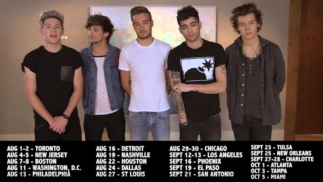 One Direction announce North American Where We Are Tour 2014