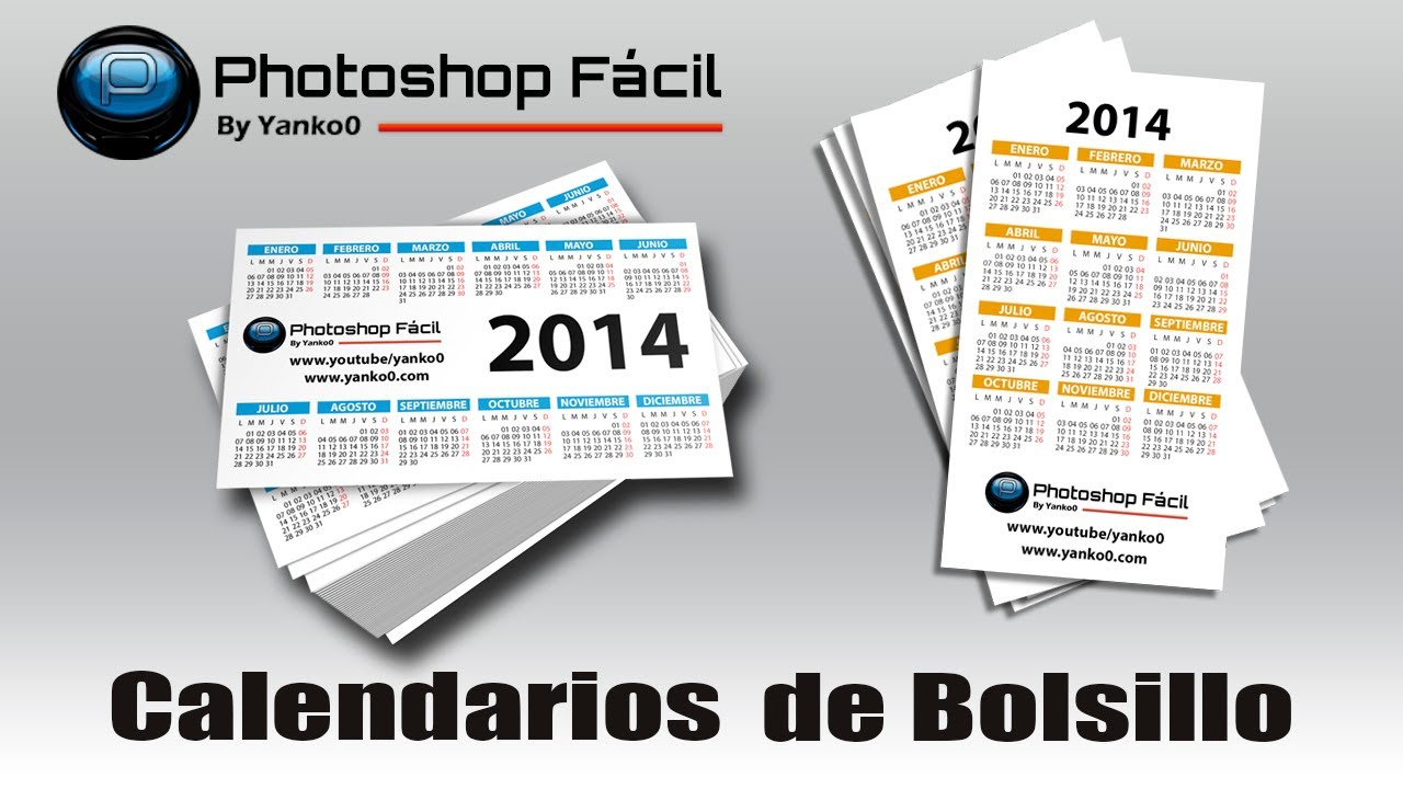 Calendarios de Bolsillo Templates Photoshop Fácil Yanko0 - YouTube