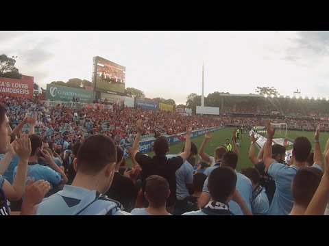 The Cove away. Western Sydney Wanderers vs Sydney Fc. (29.11.2014)