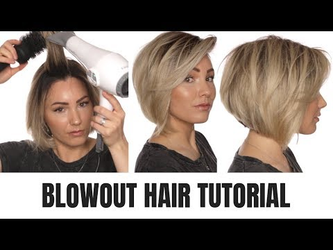 BLOWOUT TUTORIAL || short hair