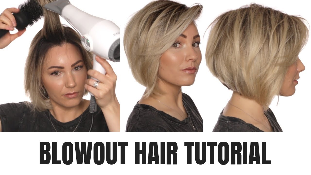 Blowout Tutorial Short Hair Youtube