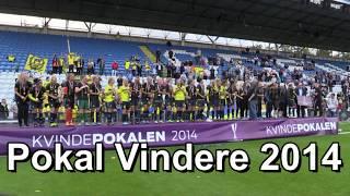 Brøndby IF Fodbold kvinder tager Pokalen i 2013-2014-2015.