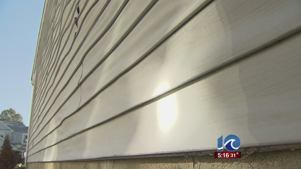 Vinyl Siding Melts Off From Reflection Of Sun At Virginia