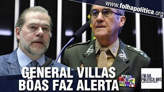 Na véspera do julgamento no STF, General Villas Bôas alerta sobre risco de convulsão social