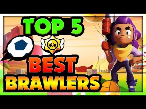 TOP 5 BEST BRAWLERS for Brawl Ball Super Stadium - Best Brawler Ranking Guide To Earn Easy Trophies