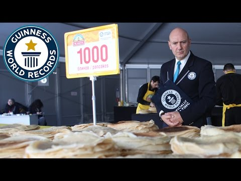 Largest serving of pancakes – Guinness World Records