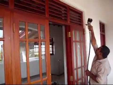 Waduge spray polish in sri lanka youtube for Window design sri lanka