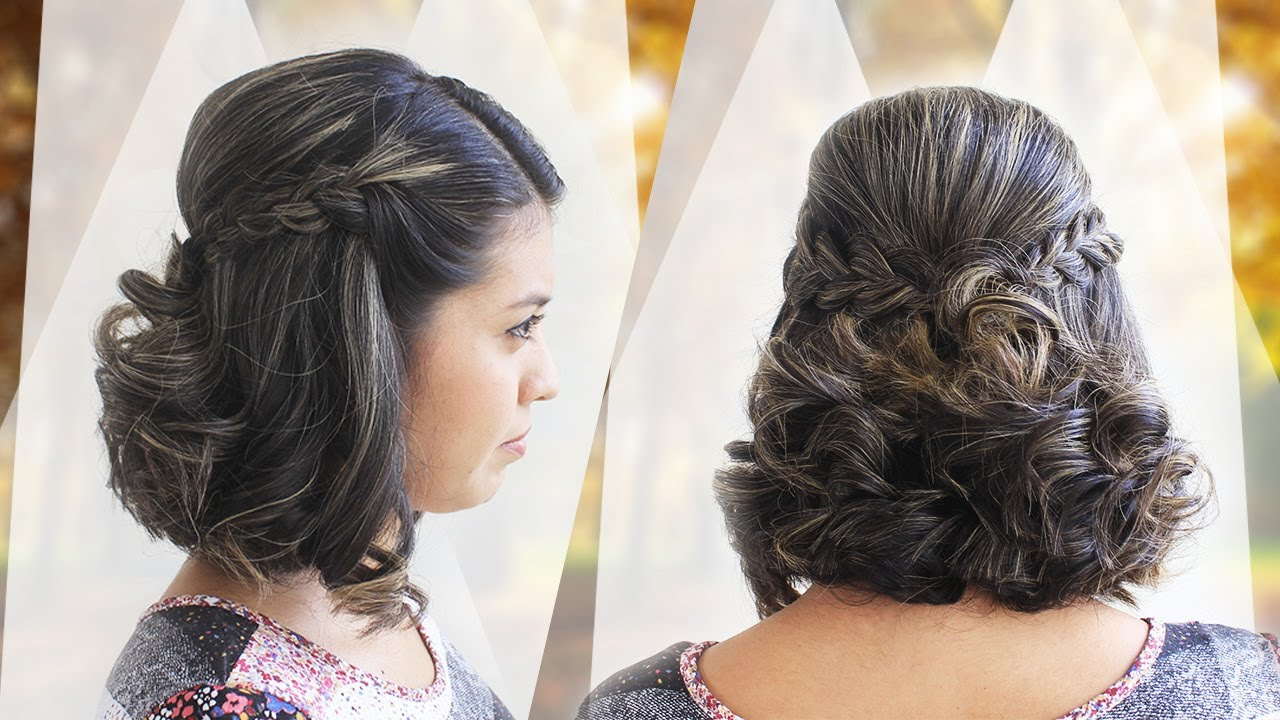 Peinado Facil Para Cabello Corto Peinado Elegante Youtube