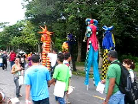 FSM 2009, Belém-PA. Manifestação artística na UFRA. WSF 2009.