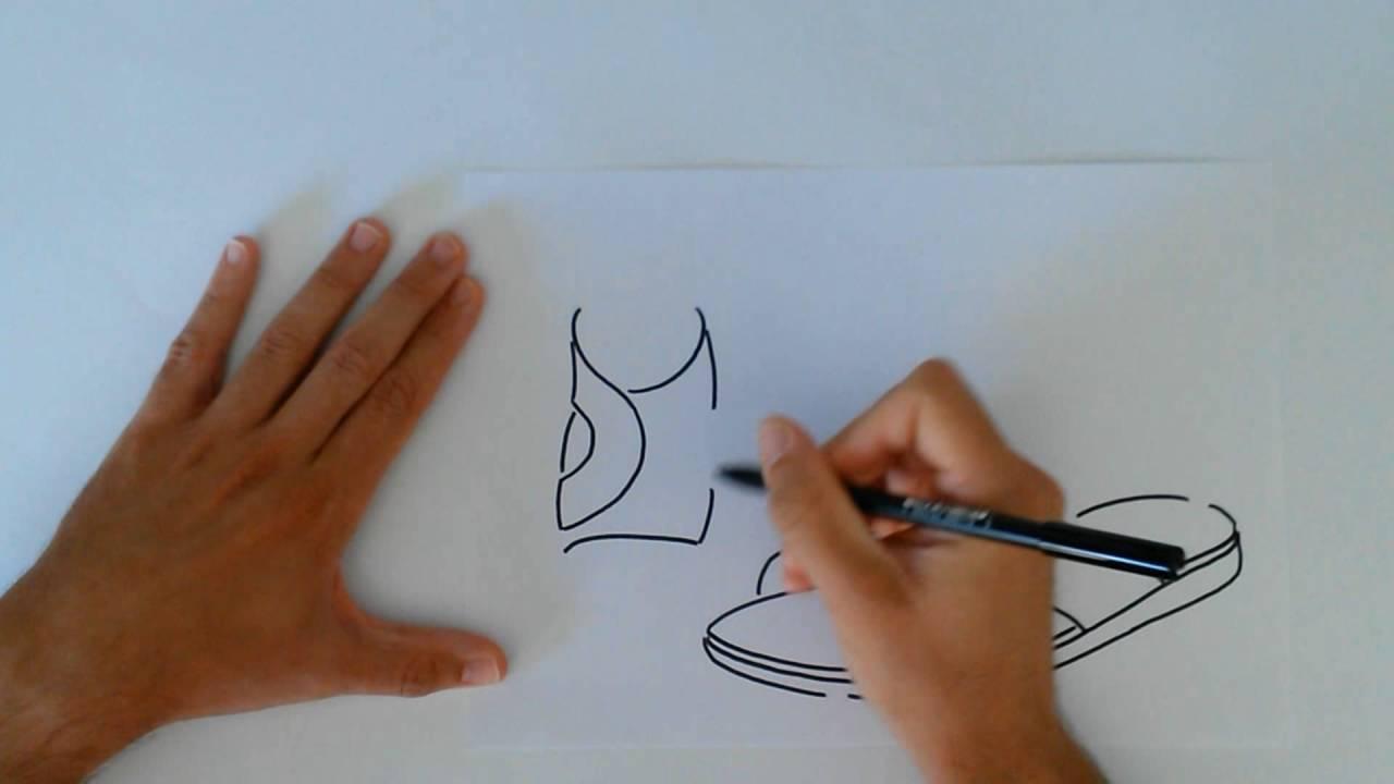 Dibujo A Mano Alzada De Una Sandalia De Caballero Youtube
