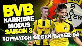 BUNDESLIGA SPITZENSPIEL Gegen Bayer 04 Leverkusen ♕ FIFA 17 Karrieremodus BVB S3 #48