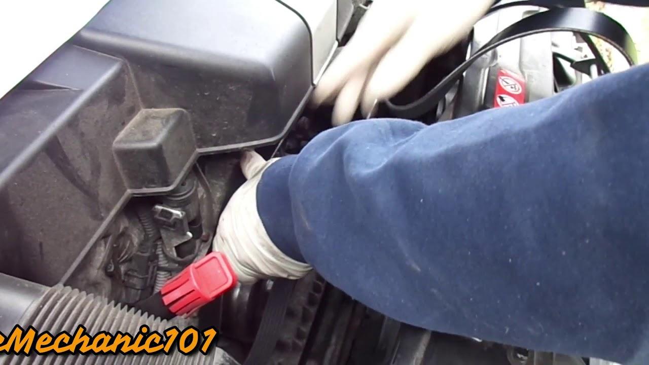 2005 mercedez benz c240 serpentine belt replacement / changed