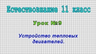 Естествознание 11 класс (Урок№9 - Устройство тепловых двигателей.)