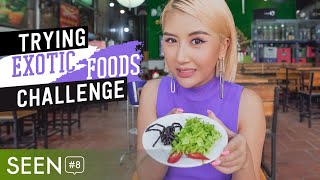 SEEN#8 Trying Exotic Foods Challenge Thu Thach An Con Trung