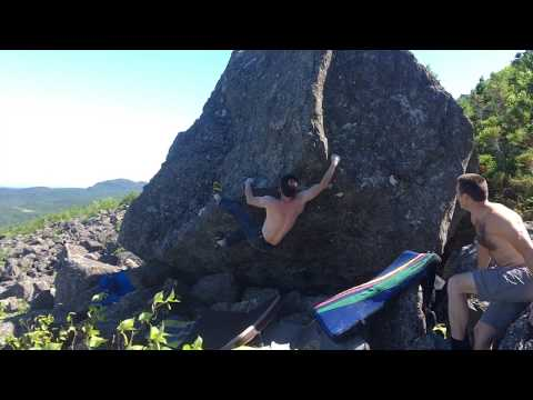 Cig-Arête V4 - Bay of Islands Bouldering, Newfoundland