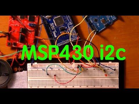 TI MSP430 Launchpad i2c communication with Arduino Mega 2560