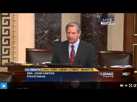 ND Senator John Hoeven Speaks On Floor Of The Senate