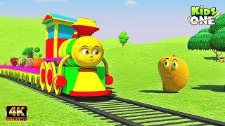Fruit Train | फल ट्रेन | बच्चों के लिए सीखना | Learn Fruits Names for Children | KidsOneHindi